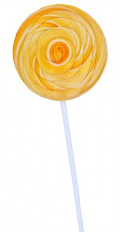 Pirulito Redondo Amarelo Diâmetro: 8 cm Altura: 20 cm - Catelândia