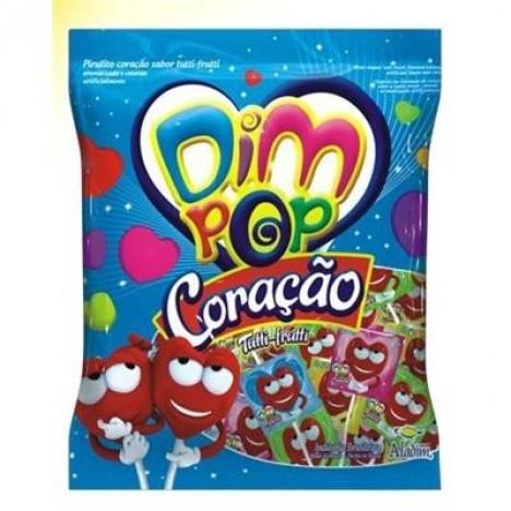 Pirulitos Coloridos Coração Sabor Tutti-Frutti 50 Unidades - Catelândia
