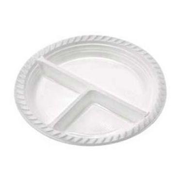 Pratos Descartáveis com 3 Divisórias Para Refeição, Churrasco ou Salgados 25cm 10 Un - Catelândia