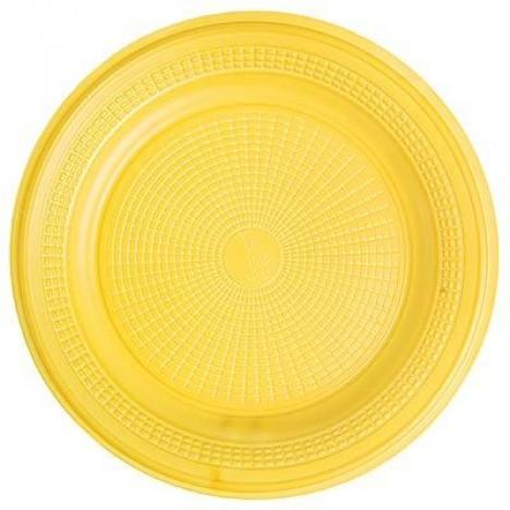 Pratos Descartáveis Para Bolo Colorido Amarelo 15cm 10 Un - Catelândia