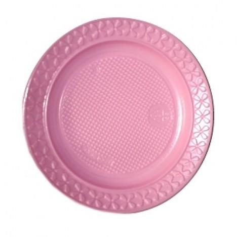 Pratos Descartáveis Para Bolo Colorido Rosa 15cm 10 Un - Catelândia