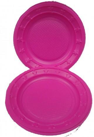Pratos Descartáveis Para Sobremesa (Bolo) Pink 15cm 10 Un - Catelândia