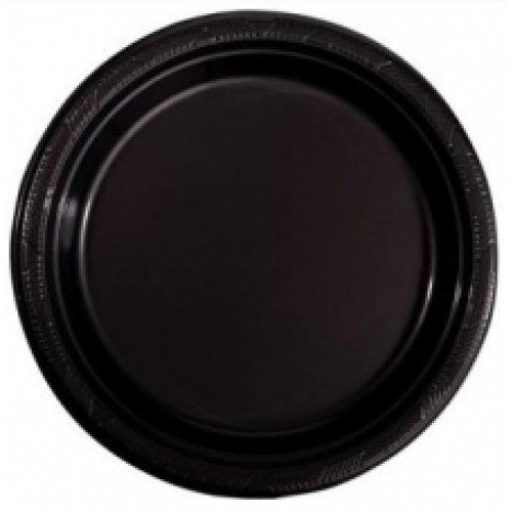 Pratos Descartáveis Para Sobremesa (Bolo) Preto 15cm 10 Un - Catelândia