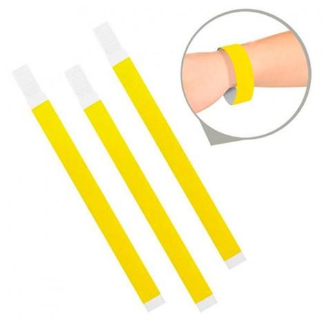 Pulseira de Identificação para Festas ou Baladas Amarelo Neon 35 Un - Catelândia