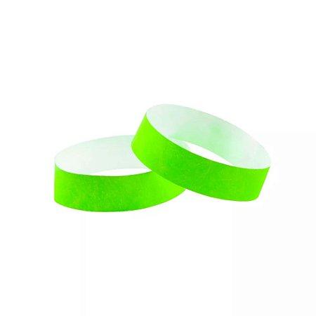 Pulseira de Identificação para Festas ou Baladas Verde Neon 35 Un - Catelândia