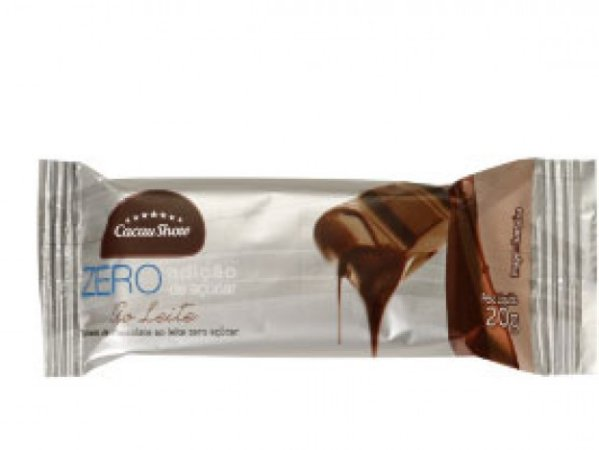 Tablete Chocolate ao Leite Zero Açúcar 20g 02 Un - Catelândia