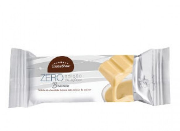 Tablete Chocolate Branco Zero Açúcar 20g 02 Un - Catelândia