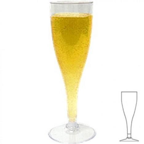 Taça Descartável Acrílica para Espumante e Champagne 150 ml 06 Un - Catelândia