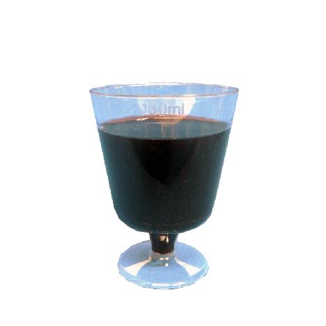 Taça Descartável Acrílica para Vinho e Drink 130 ml 06 Un - Catelândia