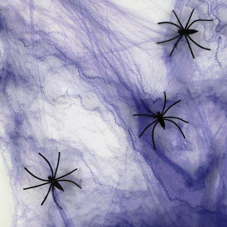 Teia de Aranha na Cor Roxa para Decoração Halloween - Catelândia