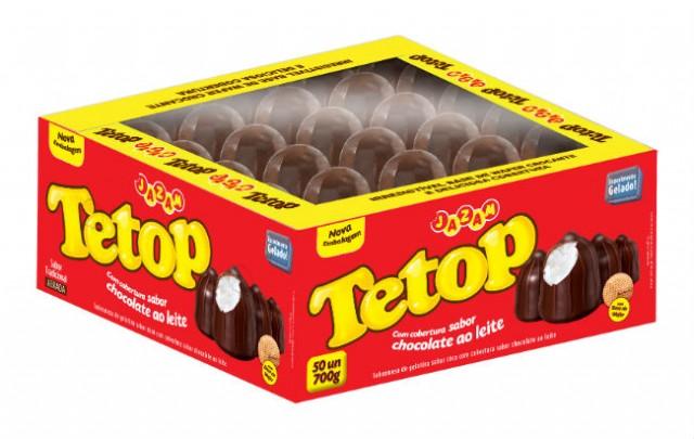 Teta de Nega Chocolate com Maria Mole Caixa com 50 Unidades - Jazam