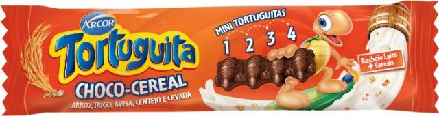 Tortuguita Choco Cereal com 5 Cereais Display com 12 Tabletes - Catelândia