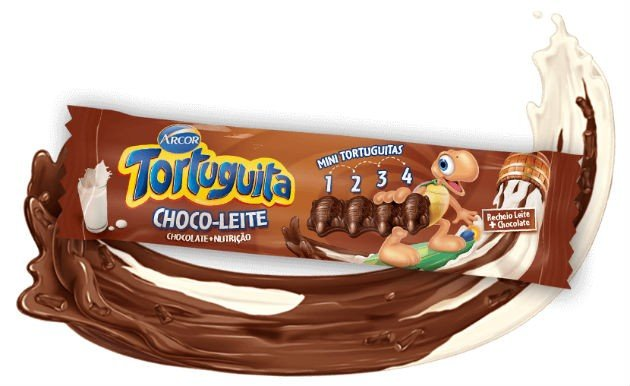Tortuguita Choco Leite Chocolate + Nutrição Display com 12 Tabletes - Catelândia
