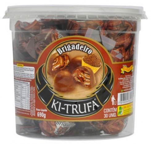 Trufas de Chocolate com Recheio Brigadeiro 30 Un - Catelândia