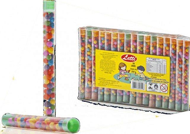 Tubinhos com Confeitos Coloridos e Mini Dinheirinhos 50 Un - Catelândia