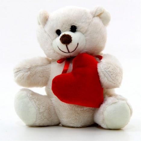 Ursinho de Pelúcia com Coração 15 cm - Catelândia