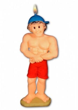 Vela Homem Musculoso (Saradão) 01 Un - Catelândia