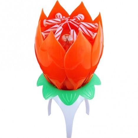 Vela que Abre, Canta Parabéns e Gira Florivela Giratória Vermelha - Catelândia