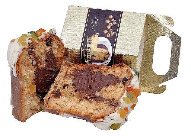 Mini Panetone Trufado Chocolate Belga Meio Amargo 70% Cacau