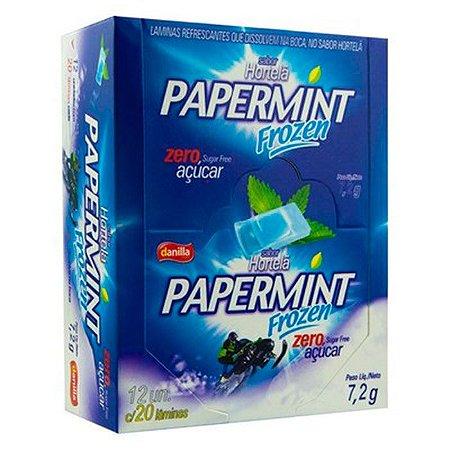 Papermint Lâminas 12 Blister 20 Cada Hortelã Frozen Display