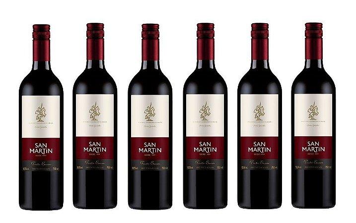Kit com 06 Unidades Vinho Tinto Suave San Martin 750ml