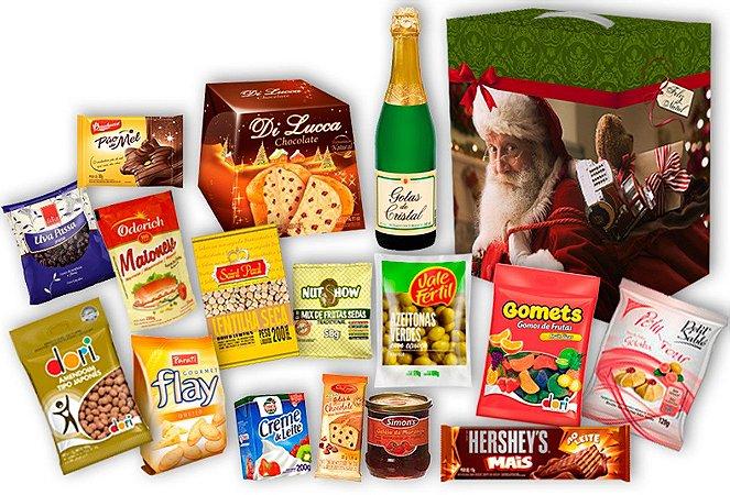 Cesta Natalina com Kit Presente de Natal Completo
