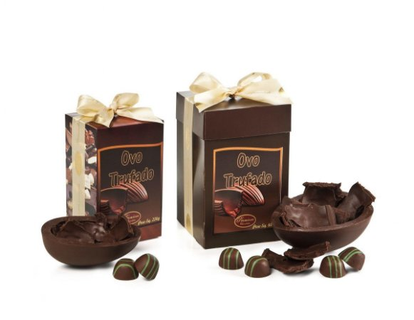 Kit 02 Ovos de Páscoa Trufados Chocolate Belga Callebaut