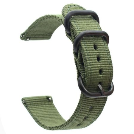 Pulseira Nylon Verde Militar 20mm - (BIP, Gear S2, etc)