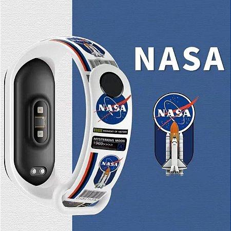 Pulseira Estampada NASA - Mi Band 5 e 6