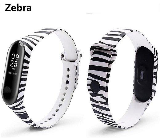 Pulseira estampa Zebra Mi band 3/4 - N89