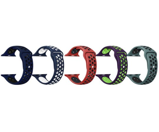 Pulseira esporte para Apple Watch 42 44MM (cores escuras)