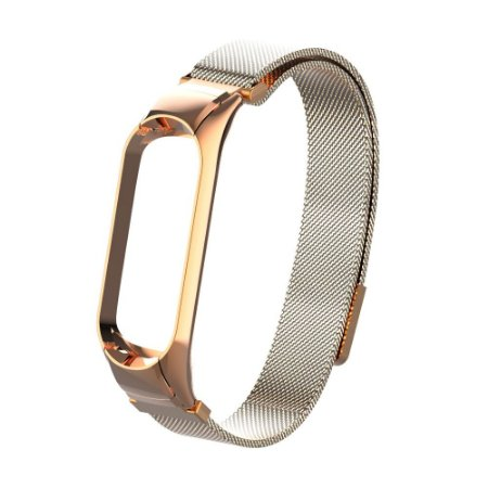 Metal Gold rose fecho Magnetico - Mi Band 3/4