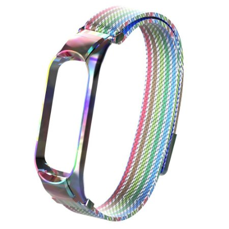 Metal arco-íris fecho magnético - Mi Band 3/4