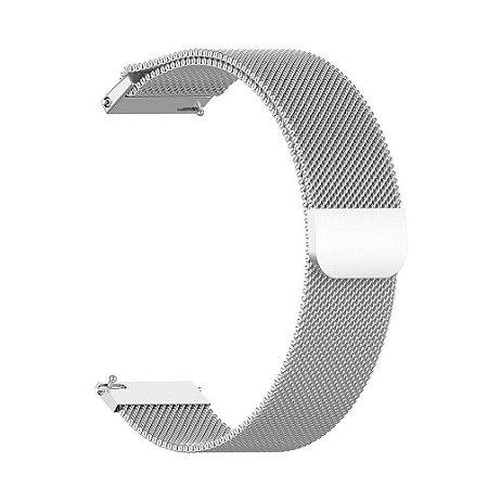 Pulseira de metal Prata 20mm - BIP / Gear s2