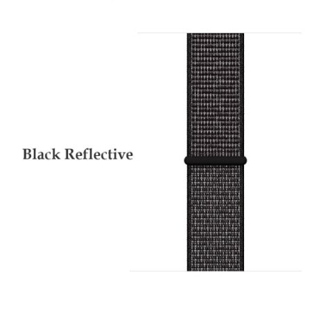 Nylon Preto Refletivo 20 mm - (BIP, Gear S2, etc)