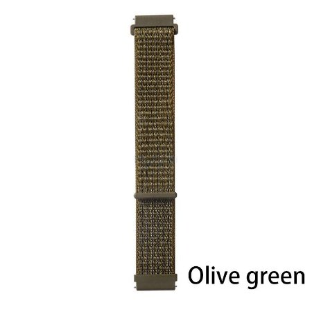 Nylon Verde Olivan 20 mm - (BIP, Gear S2, etc)