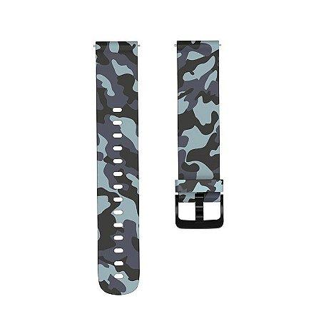 Pulseira Camuflada cinza - 20 mm (BIP, Gear S2, etc)