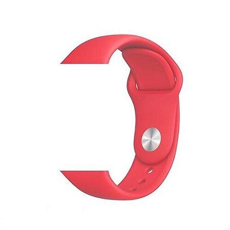 Pulseira Lisa para Apple Watch Vermelho - 42 44mm