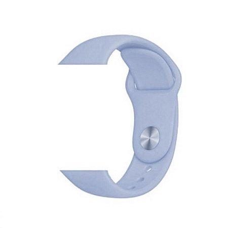 Pulseira Lisa para Apple Watch Azul Bebê - 42 44mm
