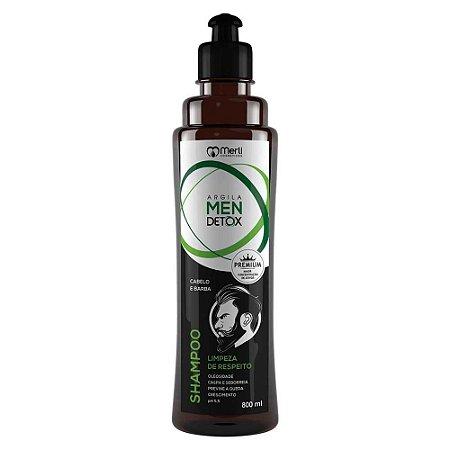 Shampoo Detox 800 ml  masculino anticaspa