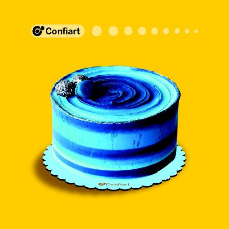 Cake board babado azul 3mm