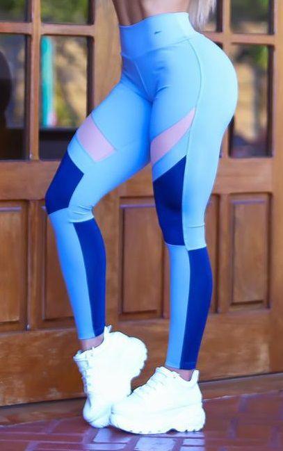 Legging Du Sell Up com Lummy e Tule Ref. 5721 Azul Claro