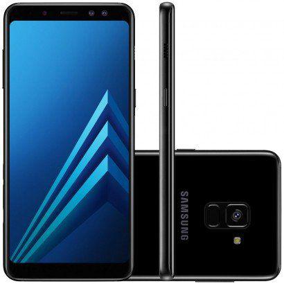 """Smartphone Samsung Galaxy A8 com 64GB, Dual Chip, Tela 5.6"""", Android 7.1, Câmera 16MP, Proteção IP68, Processador Octa Core e RAM de 4GB"""