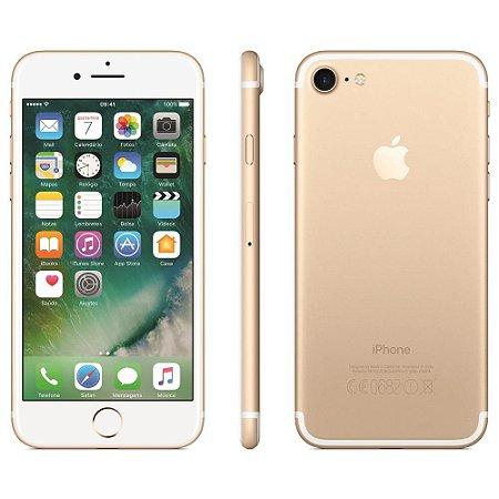 """iPhone 7 Apple 3D Touch, iOS 11, Touch ID, Câm.12MP, Resistente à Água e Sistema de Alto-falantes Estéreo, 32GB, Dourado, Tela HD de 4,7"""""""