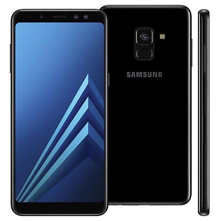 """Smartphone Samsung Galaxy A8 Dual Chip, Android 7.1, Câmera 16MP, Proteção IP68, Processador Octa Core e RAM de 4GB, 64GB, Preto, Tela 5,6"""""""