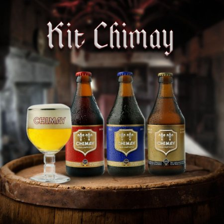 Kit 3 Cervejas Chimay + Copo