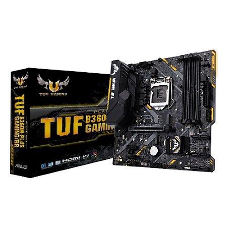 PLACA MÃE ASUS TUF B360M-PLUS GAMING/BR DDR4 LGA 1151