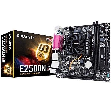 Placa Mãe Gigabyte Itx Dual Core E2500n Gigabyte Hd 8240 Graphics