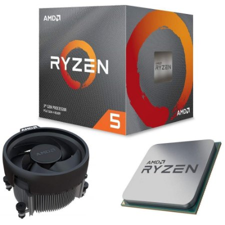Processador AMD Ryzen 5 3600x 3.8ghz (4.4ghz Turbo), 6-cores 12-threads, Cooler Wraith Spire, AM4, , S/ Video