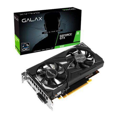 Placa de Video Galax GeForce GTX 1650 1 Click OC Dual, 4GB GDDR5, 128Bit